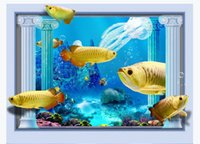 Wholesale chinese coral for sale - Group buy customized d photo wallpaper murals wall paper Underwater World Coral Fish D Living Room TV Background Wall paper for walls d