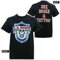 en iyi seks erkekleri toptan satış-Yaz Rahat T Gömlek Kaliteli L. A. Silahlar Seks, alem dövmeler Sml Xl 4Xl O-Boyun Kısa Kollu Erkekler Için En Iyi Arkadaşı Gömlek