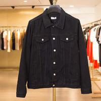 männer s bestickte jeans großhandel-19FW Luxus Europäischen Gedruckt Bestickte Jeans Jacke Retro High Street Fashion Hohe Qualität Männer Frauen Paare Designer Jacke HFYYJK007