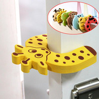Wholesale baby gates door online - 5pc Animal Jammer Baby Kid Children Safety Care Protection Silicone Gates Doorways Decorative Magnetic Door Stopper Gates