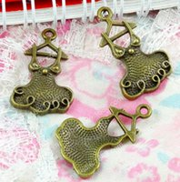 ingrosso ciondolo in bronzo-50 pz 18 * 29 MM bronzo tibetano ornamento ragazza donne gonna vestito fascini per il braccialetto vintage metallo pendenti orecchino fatto a mano gioielli fai da te fare