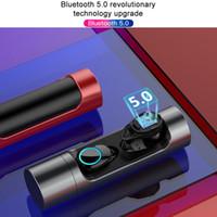 ingrosso mini microfono senza fili del bluetooth-X8 Touch Control TWS 5.0 Bluetooth 5.0 Auricolare EDR Mini Twins Stereo Microfono True Wireless Auricolari per tutti Smart Phone Auricolare