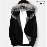 ingrosso nuova giacca di visone-Vendita di uomini in finta pelliccia nella lunga giacca di visone in pelliccia invernale caldo stile nuovo con cerniera con cappuccio