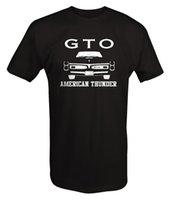 classiques de voitures américaines achat en gros de-2019 nouveaux hommes été classique fans de voitures américaines GTO Chèvre américain Thunder Front Grill Racing Pièces Muscle Car - T Shirt