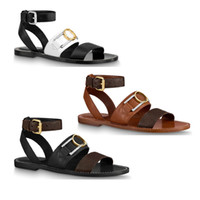 elegant calf leather outsole women lady girl ankle strap cross buckle accessory adjusted summer Academy flat sandal shoes