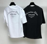 ingrosso magliette personalizzate di alta qualità-T-shirt da donna di design estivo da uomo di moda di alta qualità regalo personalizzato stampato magliette a vita bassa magliette magliette top