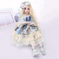 caixa de bonecas barbies venda por atacado-Doll Dress Up 60 cm bjd Simulação Princesa Barbie Boneca de Presente Caixa de Presente Da Menina Constelação de Brinquedo