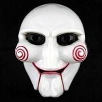 marionete de terror venda por atacado-Halloween Party Cosplay Billy Jigsaw Saw Puppet Máscara populares Masquerade Costume Props Aumentar atmosfera festiva
