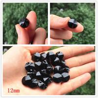 botão de costura preto venda por atacado-20 pcs de alta qualidade preto de Cristal gemstone botões de Costura botões para camisa de Cristal para vestuário Acessórios de Costura 12mm