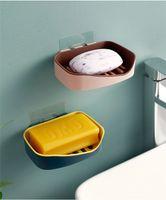marine-süßigkeiten-boxen großhandel-Süßigkeitfarbenwandabflußabflußseifenkasten kreatives freies lochendes Badezimmerseifenkastenseifengestell