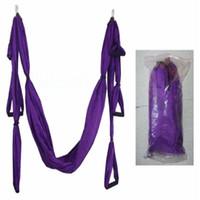 ingrosso yoga swing-All'ingrosso-Sentire la spedizione aerea Yoga Hammock Swing Sling Trapeze Hammock Aerial Yoga Swing Deluxe Aerial YHM001