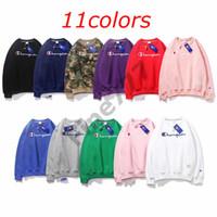 tendencia de los hoodies al por mayor-Campeones de moda tendencia limitada edición suéter unisex deportes Campeones de moda mangas largas Sudaderas 11 colores Diseñador Sudaderas