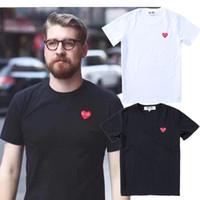 couples t shirts achat en gros de-Couple t-shirt JOUER amour broderie Manches courtes Mode simple Sauvage moitié manches nouveau style en gros