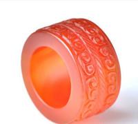 anel de jade vermelho natural venda por atacado-Direto da fábrica natural ágata vermelha precisão dedo anel de jade anel de jade jade anel de transferência de contas