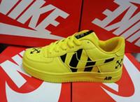 yeni popüler spor ayakkabıları toptan satış-Sıcak popüler yeni varış erkek kadın Ayakkabı Rahat atletizm Yürüyüş hava bir Açık sneakers spor Ayakkabı siyah beyaz