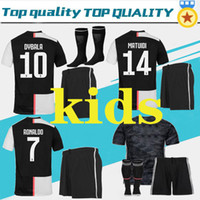 Wholesale ronaldo jersey youth for sale - Group buy Adult kids kit RONALDO soccer jersey MANDZUKIC football shirt men youth set DYBALA JUVE Camiseta de futbol