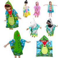 Kids cartoon Bathrobes Kids Bath Towels Hooded Poncho Mermaid towel Swim Pool Beach towel Cartoon Kids Cloak Mermaid Bath shower Robe