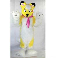 costume cachorro costume cachorro venda por atacado-2019 de alta qualidade hot simulado cão mascote trajes desempenho do filme adereços dos desenhos animados vestuário feito sob encomenda tamanho adulto