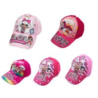 Wholesale children baseball cap resale online - NEW Children cartoon doll Print Baseball Cap Kids Boys Girls Outdoor cap Cartoon printing peaked hat adjustable cap zx02