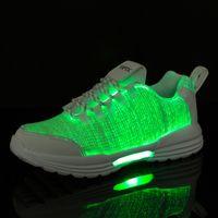 zapatos de baile al aire libre al por mayor-Zapatos iluminados LED para hombres y mujeres Zapatos al aire libre Street Dance Sports Festival Designer Shoes Envío gratis