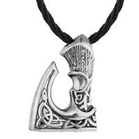 venta de joyas antiguas al por mayor-Venta caliente North Viking Jewelry Eslavo Hacha que sobresale Viking Hacha Vintage Antiguo Bronce Antiguo Colgante de plata