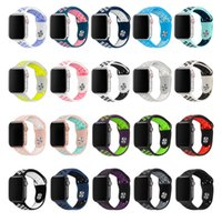 Wholesale silicone watch for sports resale online - Soft Silicone Replacement Sport Band For mm mm Apple Watch Series4 mm Wrist Bracelet Strap For iWatch Sports Edition