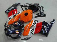spritzgussverkleidungen großhandel-Kostenlose benutzerdefinierte Verkleidungen für Honda CBR1000RR 2004 2005 orange weiß Verkleidungssatz für Spritzgießwerkzeug CBR 1000 RR 04 05 DD26
