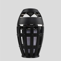 Wholesale LED flame speaker Outdoor Portable column Torch atmosphere Wireless Bluetooth Speaker with LED flickers for iphone xiaomi HUAWEI retail box