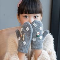 Wholesale gloves fingers for babies for sale - Group buy Winter Xmas Cartton Baby Boys Girls Knitted Gloves Warm Rope Full Finger Mittens Gloves for Children Toddler Kids