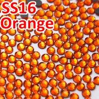 strass de fer orange achat en gros de-SS16 3.8-4.0mm, Strass FlatBack DMC HotFix Orange / Sac / orange, Transfert de chaleur chaud Vêtement thermocollant DIY