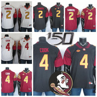 Wholesale deion sanders florida state jersey resale online - 2019 NCAA Florida State Seminoles Jerseys Deion Sanders Jersey Dalvin Cook FSU College Football Jersey Black Red White Stitched TH