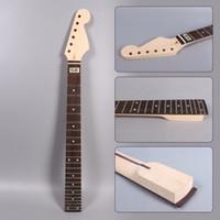 kit de guitarra electrica solid al por mayor-Cuello de guitarra eléctrica Fit Strat Style Maple 24 fretas 25.5 pulgadas # S13