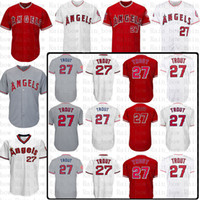 ab52ae39 Mens Los Angeles Angels Baseball Jersey 27 Mike Trout 17 Shohei Ohtani Jerseys  size m-xxxl