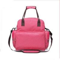 горошек рюкзак для ребенка оптовых-Горячие продажи Мумия материнства сумка многофункциональный уход горошек по уходу за ребенком рюкзаки сумка уход за ребенком путешествия удобная Мумия пеленки мешок