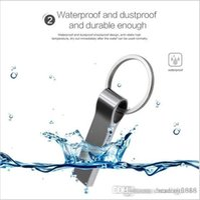 pendrive drive pendrive al por mayor-Diseño Capacidad real Impermeable Metal Plata Usb Flash Drive Pen Drive 32GB ~ 64GB