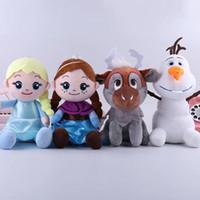 kardan adam peluş oyuncaklar toptan satış-4 Styles Snow Queen II Peluş Oyuncaklar 20cm Kardan Adam Prenses Sinema Dolması Doll Çocuk Oyuncak Yılbaşı Hediyeleri M838