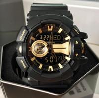 hommes menés de montre-bracelet achat en gros de-Mode Hommes Sport Montres Quartz numérique LED grand cadran 30M étanche Dual Display Style G Shock Montres-bracelets Montre Relogio Masculino
