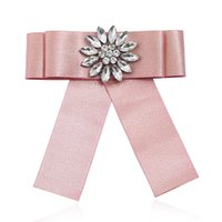 camisa rosa gran lazo al por mayor-Tela de lujo Cinta maciza Corbata de lazo grande Rosa azul Kawaii Pajaritas Camisa Cuello Corbatas Mujer Kraagjes Dames Bayan Fantezi