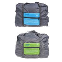 складной мешок руки оптовых-THINKTHENDO Nylon Waterproof Travel Bag Large Capacity Foldable Hand Luggage Travel Organizer Multi-function Bag