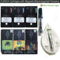 neueste zerstäuber großhandel-Neueste Eureka Klar High Potency Vape Cartridges Carts G5 Ceramic Spulen 1,0 ml Magnetic Schwarz Flavors Verpackung 510 Thick Ölzerstäubern Pen