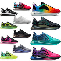 corrida livre corrida sapatos venda por atacado-Nike air max 720 airmax 720s Almofada de Corrida Sapato Triplo-s Branco Preto Moda Mens Womens Calçados Esportivos de Luxo Marca Designer Tênis Esportivos Corredor
