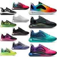 zapatillas negro rosa al por mayor-Nike air max 720 airmax 720s maxes Zapatillas Free Run Cojín para correr Zapato triple s Blanco Negro Moda Hombre Zapatillas deportivas Diseñador de marca de lujo