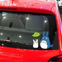 totoro aufkleber großhandel-1 STÜCK Hohe Qualität Lustige 19 * 15 CM Mein Nachbar Totoro Auto Aufkleber für Autotür Körper und Motorrad Zubehör Tiere Vinyl Aufkleber