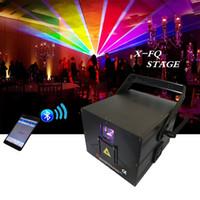 dj disco lazer ışıkları toptan satış-Toptan prcie 2018 yeni 1 W ILDA RGB Programlama Sahne Lazer Işık DJ Disco bar olay için