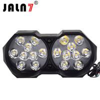 führte motorrad glühbirnen großhandel-JALN7 LED Doppel Lampen Motorrad Led Scheinwerfer Scheinwerfer Lampen 12V 3000Lm Moto Scheinwerfer 6500K Motorrad LED Dekoratives Licht