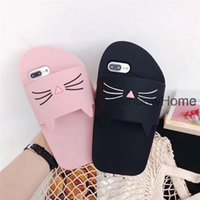 Wholesale rubber cat phone case for sale – best 3D Slipper Shoes Cat duck Silicone Case Cover Soft Coque Gel Rubber Phone Cases for iPhone XS Max XR X Plus