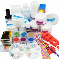 kits de prothèses acryliques achat en gros de-COSCELIA Pro Kit Ongles Acrylique Manucure Outils de Pédicure Set Ongles Ensemble Gel UV Outils Nail Art Outils Poudre Acrylique Outils de Manucure Set Kits