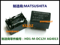 Free shipping lot (5 pieces lot) 100%Original New MATSUSHITA HD1-M-DC12V AG4013 4PINS 12vdc Power Relay