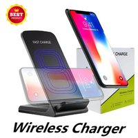 Wholesale best qi charging pad online – Best Coils Wireless Charger Fast Qi Wireless Charging Stand Pad for Apple iPhone X Plus Note S8 S7 all Qi enabled Smartphones