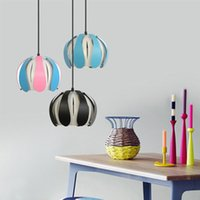 Wholesale light ceilings for sale - Group buy modern pendant ceiling lamps simple restaurant living room hotel bar color wrought iron Nordic bedroom pendant lights